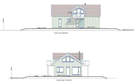 Dette er boligen som ønskes oppført på Jomfruland. Kommunedirektøren mener imidlertid at det ikke bøs gis tillatelse, fordi det ikke er tillatt med nye boliger i det aktuelle området i reguleringsplanen.