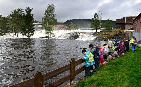 KRAFT: Kongsberg Energiselskap får lov å hente ut mer fossekraft midt i Kongsberg.