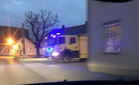 UTRYKNING: Brannvesenet sjekket en alarm i Stiksrudgata onsdag morgen.