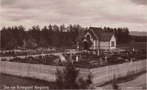 Bilde A: Den nye kirkegården ved Næringsparken (som vi nå kaller den gamle).