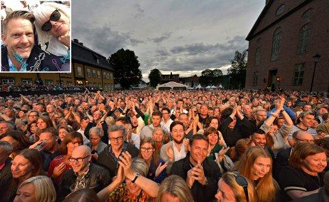 Irriterende: Tage Pettersen likte Sigrid-konserten veldig godt, bortsett fra all pratingen fra folk rundt. Her sammen med kona Anny Pettersen.