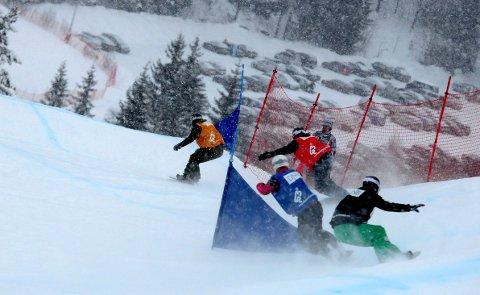 BRETTCROSS-NM: Søndag kjempes det om NM-medaljer i Funkelia, mens det kjøres norgescup der lørdag. FOTO: OLE JOHN HOSTVEDT
