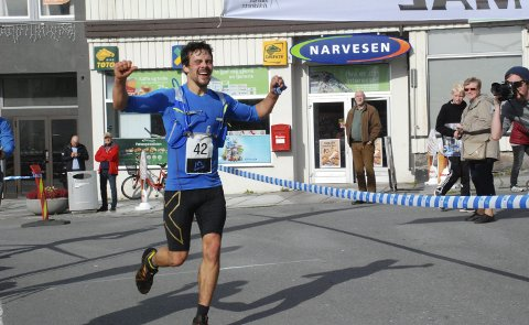 Satser høyt: Kjell-Egil Krane Ingebrigtsen. Bildet er fra Lofoten High Five i 2016, hvor han kom på andreplass bak Hallvard Schjølberg.