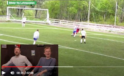 Bernt Hulsker og Kasper Foss kommenterer kuriøse fotballsituasjoner i programmet Foppall på VGTV.