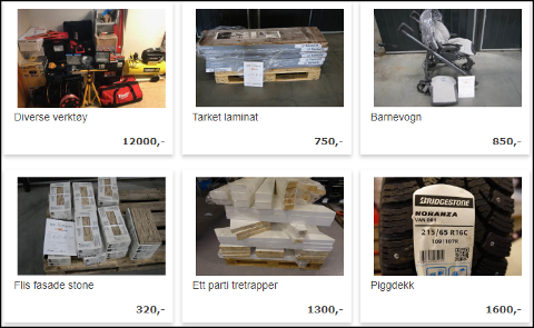 BESLAGLAGTE VARER: 49 varer Tollvesenet har beslaglagt ligger nå ute på nettauksjonsportalen qxl.no.