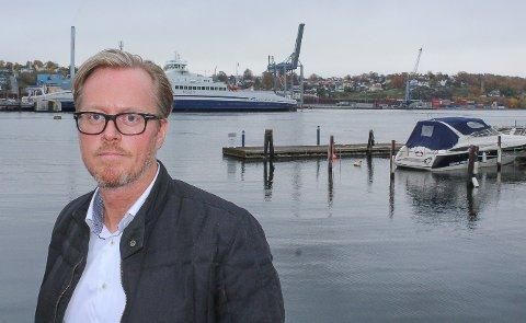 Spennende: - Jeg ønsker alle interessante innspill om fremtiden til Moss havn velkommen, sier nyvalgt leder i havnestyret, Fred Jørgen Evensen (Ap).
