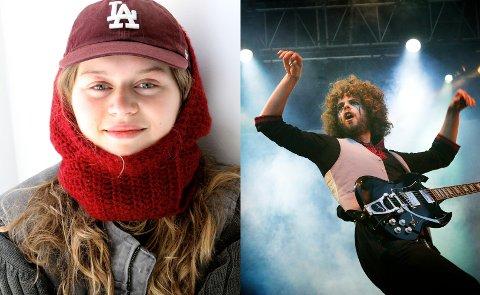 KOMMER TIL TRONDHEIM: Artistene Girl in red og Wolmother ble fredag offentliggjort. Foto: NTB (Gitte Johannessen, t.v., og Heiko Junge)