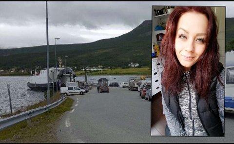 MISTET PLASSEN: Anchelita Ottesen var blant de som måtte snu bilen og stille seg bakerst i køen på ferga fra Stakkvik.