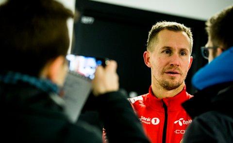 UHELDIG: Morten Gamst Pedersen var ikke i tvil om at det var han som stusset ballen i eget nett da kampen i Skien ble avgjort i andre omgang.