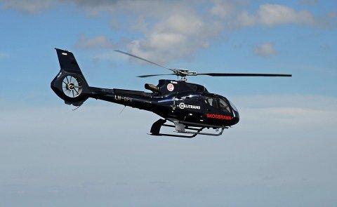 ØKER BEREDSKAPEN: Skogbrannhelikopteret vil bli plassert i Tromsø. Helikopteret på bildet er ikke det som sendes til Tromsø, men samme type.