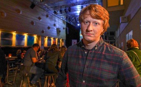 SKUFFET: Bendik Hugstmyr Woie legger ikke skjul på at han er skuffet over resultatet for Rødt i Tromsø.