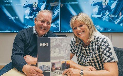 HENTET STORKONTRAKT: Det nye samarbeidsselskapet Totalteq - med Tor Torbergsen (Åge Nilsen) og Nina Hansen (JM Hansen) - har fått sin hittil største kontrakt - i nasjonal konkurranse.