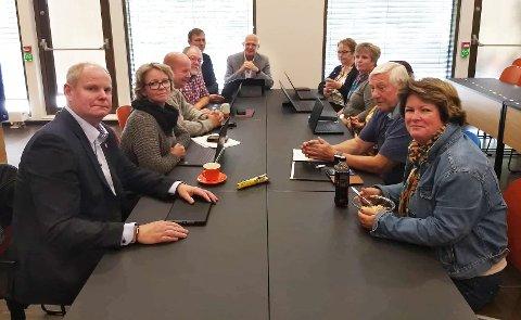 SAMLET: Valgstyret i Gjøvik samlet til møte klokka 13 18. september.