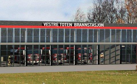 VÅREN 2021: Den nye brannstasjonen i Vestre Toten skal stå ferdig om halvannet år.