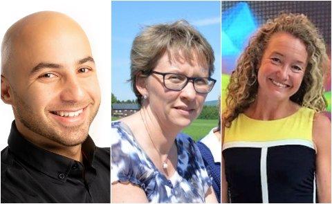 KANDIDATER: Mohammad Derawi, Gro Kvanli Dæhlin og Ine Wigernæs har søkt viserektor–jobben ved NTNU i Gjøvik. (Arkivbilder)
