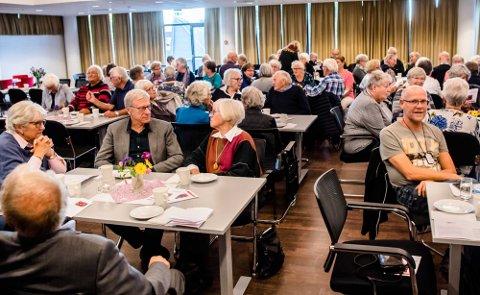 POPULÆRT: Det var god oppslutning om årets arrangement i Ås kulturhus.