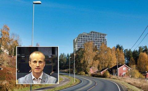 FORSINKET: Innsigelsen fra Fylkesmannen betyr forsinket saksbehandling av hotellet ved The Well. Vi er naturligvis skuffet over innsigelsen, sier prosjektleder i Canica, Kristian Gundersen.
