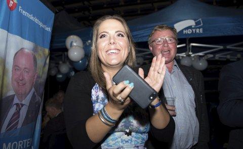 Valgvinner: Lene Westgaard-Halle fra Larvik blir en av tre Høyre-representanter på Vestfold-benken de neste fire årene. foto: Joachim Hellenes