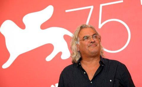Den britiske regissøren Paul Greengrass under filmfestivalen i Venezia onsdag. Foto: ANSA via AP / AP / NTB scanpix
