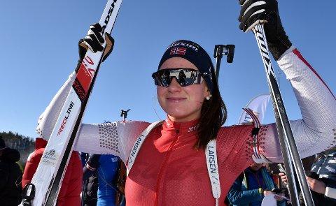ENDELIG MEDALJE: Maren Bakken, Os, viste lørdag at hun fortsatt er i bra form etter å ha gått seg inn til sølvmedalje.