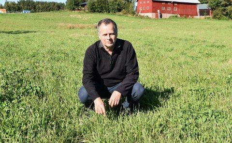 GRØNT: Jon Lurås (MDG) sier nei til nedbygging av dyrka mark til nytt boligfelt i Løten.