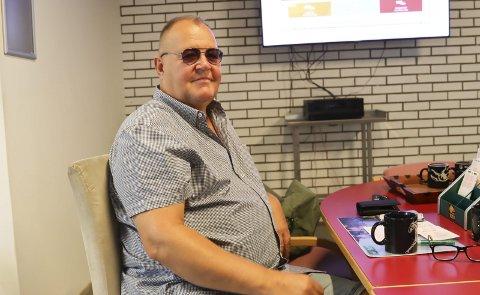 Hans andre hjem: Jan Tøger Halvorsen er i travkiosken på Stridsklevsenteret hver eneste dag. Etter han ble syk har kiosken blitt hans andre hjem.
