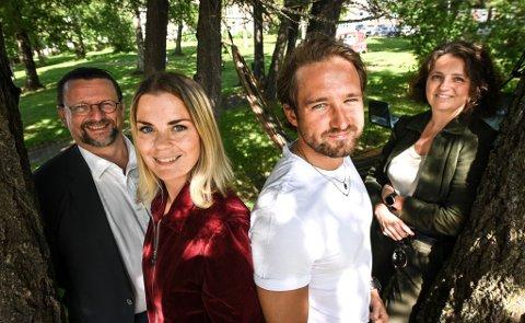 Ida Maria og Håkon William Skog Erlandsen skal jobbe som talentutviklere i Rana kommune. Lillian Nærem og Nils Notler.