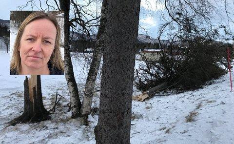 Bydriftssjef Hanne Alvsing sier at Rana kommune er godt forberedt til å ta hånd om hendelser som eventuelt skjer ved ekstremværet. Det de frykter mest er at trær skal ramle.