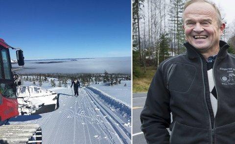 UT I NATUREN: Nykjørte løyper på Vikerfjell til glede for skifolket som vil koble av fra korona-spøkelset, tror Ole Ringerud.