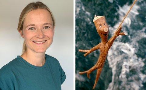 GODE VENNER: Thea Røhr Østvold fra Heradsbygda er en av dem som kjenner Knerten aller best. Nå gleder hun seg til å vise publikum en helt fersk film om den sjarmerende pinnen Knerten.