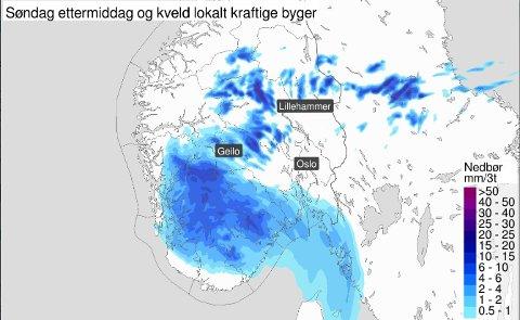 REGN: Norsk sommer med byger og mer variert vær, er på vei. Foto: Meteorologisk Institutt