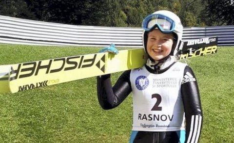 FORNØYD: Frida Berger er godt fornøyd med resultatet av fis-cup i Romania. foto: Privat