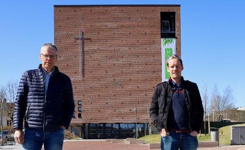 BLI MED! Redaktør Svein Ove Isaksen i RHA (t.v.) og Eirik Torgersen inviterer lokalt musikkliv til livekonsert i Teglen 25. april.