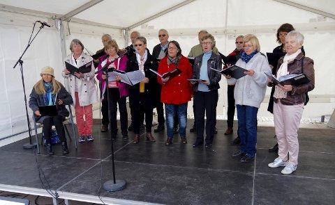 På scenen: Galleberg sangkor underholdt under Kulturmaraton i fjor vår. Arkivfoto