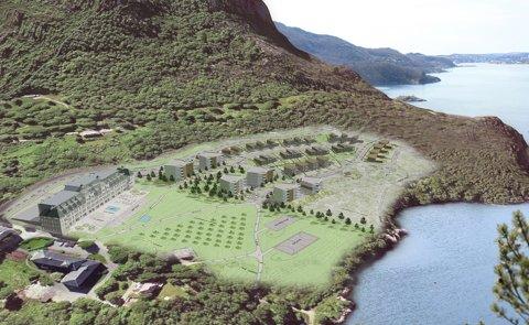FORANDRET: Slik kan det se ut på Dale når det første byggetrinnet er på plass. Dale Eiendomsutvikling mener det kan bygges ut godt over 2000 boenheter på dalesiden.