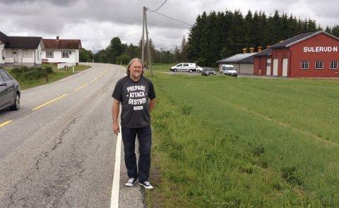 Tommy Leret er eier av småbruket Sulerud nordre.