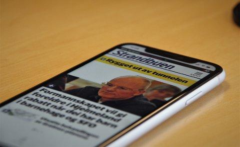 VARSEL: Med Strandbuen-appen kan du få varsel når vi skriver om noe som du er opptatt av.
