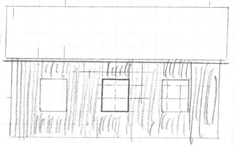IKKJE SAGBRUK: Hjelmeland kommune synest ikkje det 40 kvadratmeter store nybygget ser ut som eit sagbruk, og vil gjerne vita meir om korleis det gamle sagbruket såg ut.