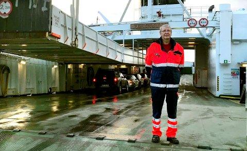Supermatros Thor, skriver kollegene som tekst til dette bildet av Thor Johan Pedersen som de torsdag knipset for Tidens Krav.