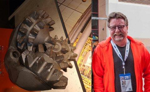 FANT OLJE: Denne borekrona var en av fire som ble brukt da Phillips Petroleum fant Ekofiskfeltet i 1969. Svein Fagereng har lagt den ut for salg på Finn for 300.000 kroner.