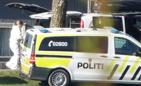 STORAKSJON: Bildet er fra en av politiets aksjoner på Toten 27. mai.