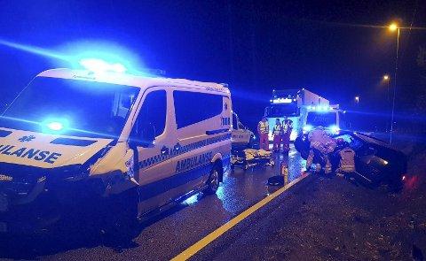Frontkollisjon: Tvedestrandsmannen og samboeren var på vei hjem fra Arendal da de ble påkjørt av en ambulanse under utrykning på E18.
