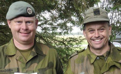 Gode skyttere: Magne Ingolf Madsen og Trond Glidje kom begge til finalen i militært NM for AG-skyttere, og Trond Glidje kunne innkassere nok en seier i dette mesterskapet. Arkivfoto