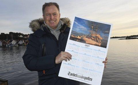 Kalenderbilde: Pål Brekke vant fotokonkurransen, og et gavekort på 1500 kroner. Bildet pryder Tvedestrandspostens kalender for 2021.  Det ble sendt inn over 250 bilder til fotokonkurransen.Foto: Øystein K. Darbo