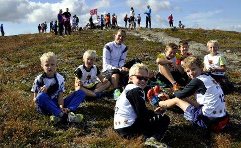 Bjødalskampen Opp:  Et populært motbakkeløp  for små og store til toppen av Bjødalskampen. Arkivfoto: Anne Dyve