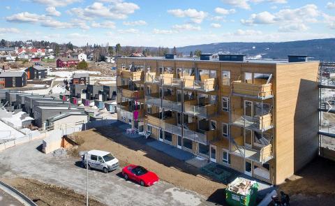 MYESOLGT:Bilde fra ei av de nye blokkene i Laboratorieveien i Kruttverket, hentet fra Finn.no.