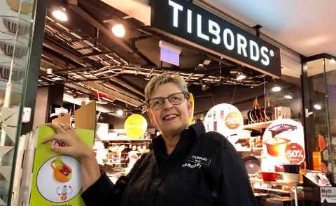 SOM FØR: - Hos oss fortsetter driften akkurat som før, sier Bjørg Hegg i Tilbords i Farmandstredet, Tønsberg.