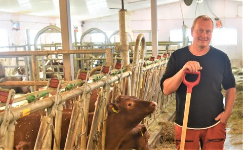 SÅRBART: At livet er sårbart fikk Kristian Ulvund (47) erfare to ganger, men nå smiler livet og Kristian ser fram til det sosiale treffet som også hører med på ei landbruksmesse.