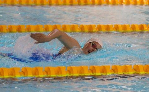 VANT: Karen Hellberg Munthe svømte en glimrende 400 fri på ÅM. Det ble helgens eneste seier.
