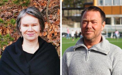 MISTER INNTEKTER: Lise Frøyna (til venstre) og Terje Frøyna fra henholdsvis Risør Håndballklubb og Risør Fotballklubb.